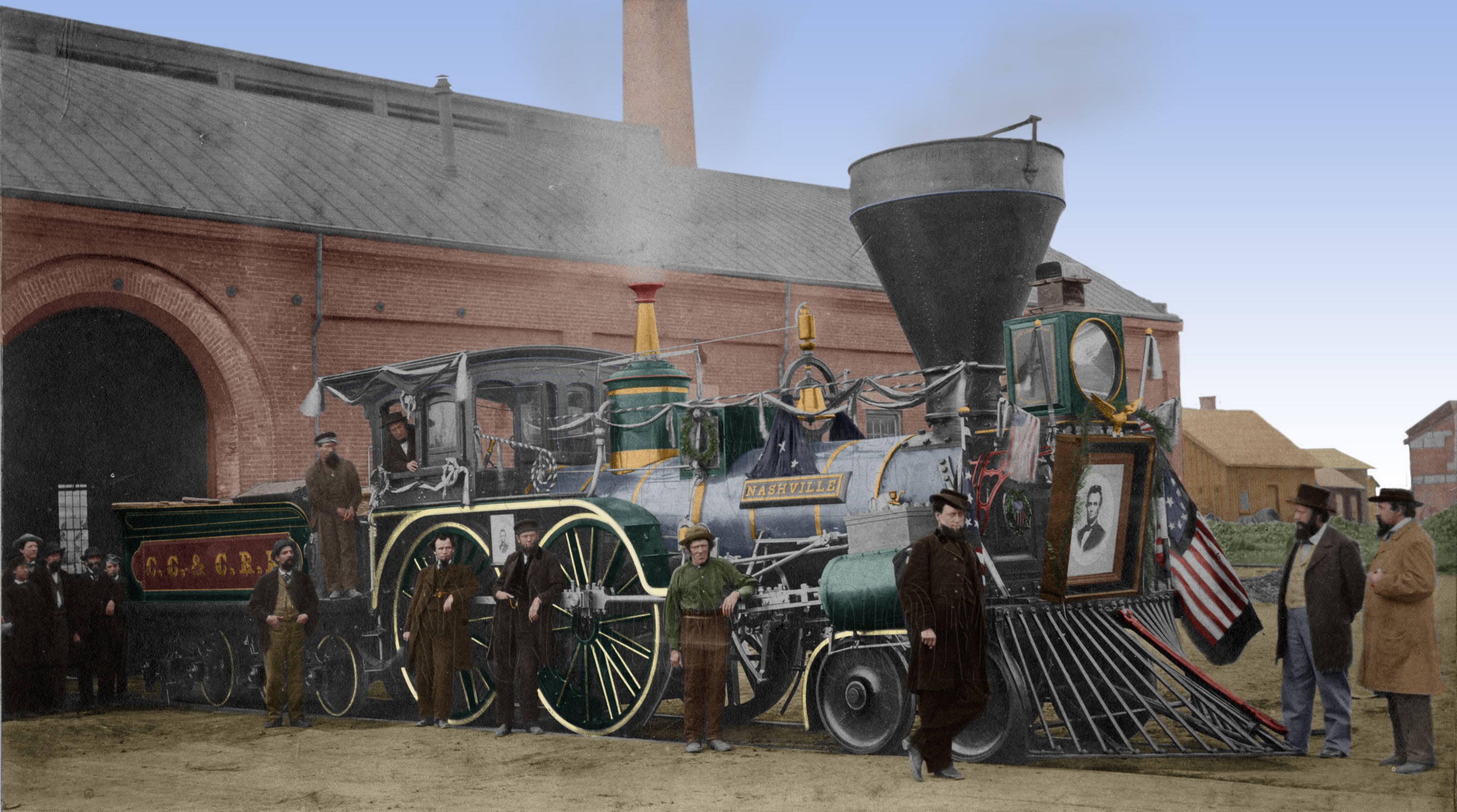The Quot Old Nashville Quot The Engine For Lincoln S Funeral Train